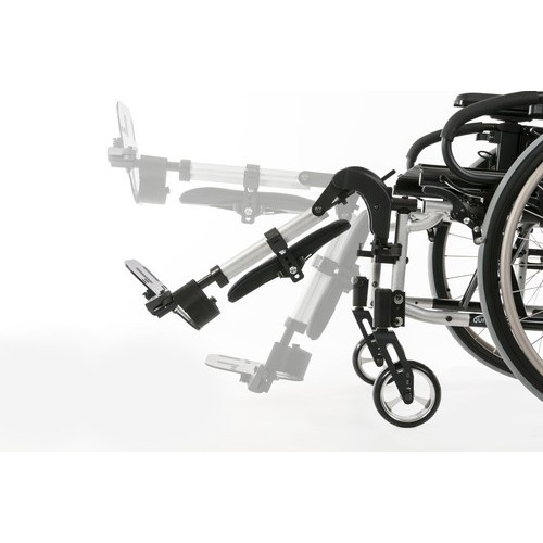 Quickie Iris Tilt-in-Space Manual Wheelchair Moving Footrests