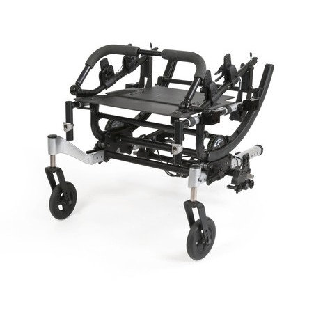 Folded Quickie Iris Tilt-in-Space Manual Wheelchair