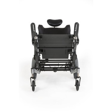 Bottom view of Quickie Iris Tilt-in-Space Manual Wheelchair