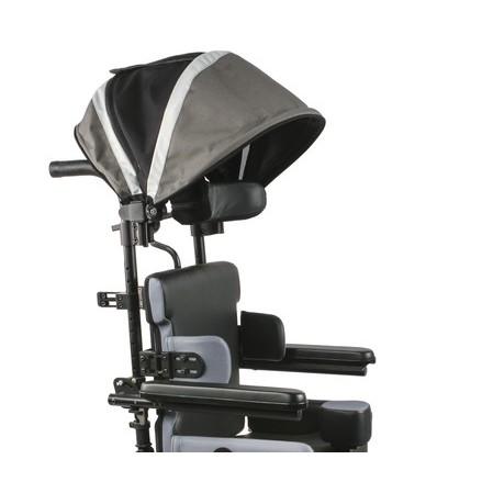 Quickie Iris Tilt-in-Space Manual Wheelchair with Umbrella over Headrest