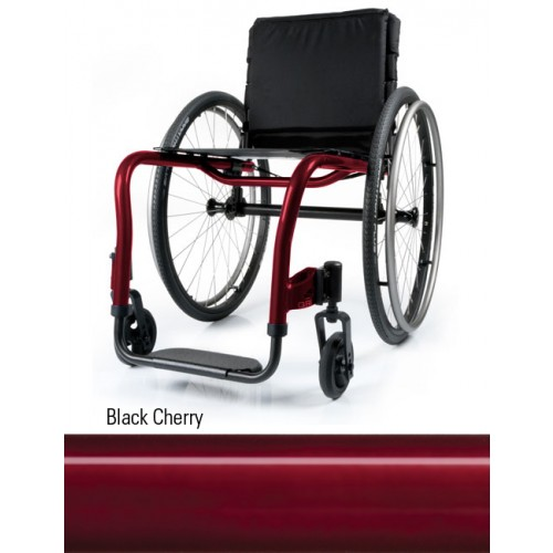 Black Cherry Quickie QRi Rigid Manual Wheelchair