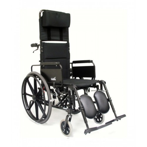 Karman Lightweight Reclining Wheelchair w/ Removable Armrests