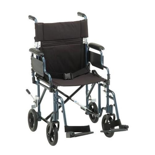 "Blue Nova 19"" Transport Chair w/ Removable Desk Arms"