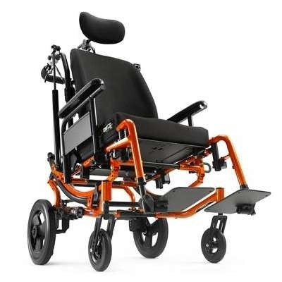 Orange Solara 3G Tilt-in-Space Manual Wheelchair