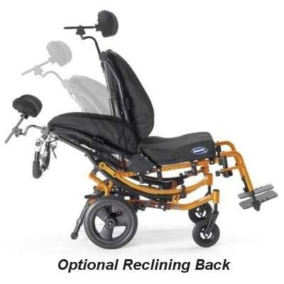 Demonstration of Optional Reclining Back in Solara 3G Tilt-in-Space Manual Wheelchair