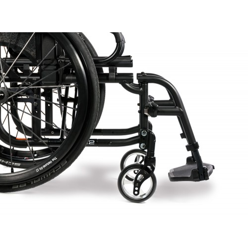 Side view of Wheels on Sunrise Medical Quickie 2 Lite Ultralight Wheelchair