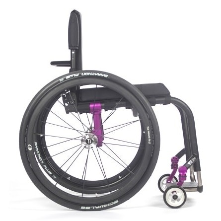 Side view of Wheels on TiLite Aero Z Rigid Manual Wheelchair