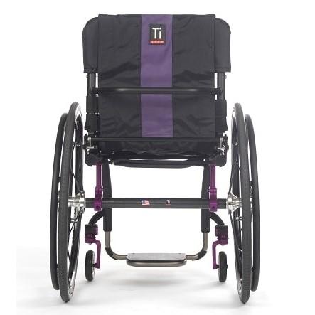 Back view of TiLite Aero Z Rigid Manual Wheelchair