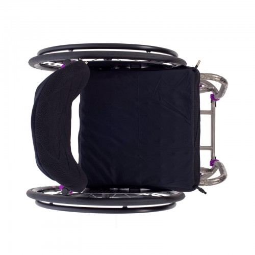 Top view of TiLite TRA Rigid Titanium Wheelchair