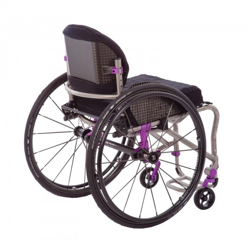Back view of TiLite TRA Rigid Titanium Wheelchair