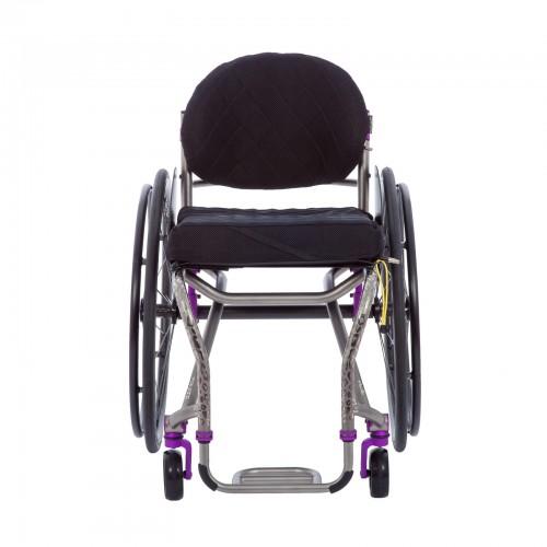 Front view of TiLite TRA Rigid Titanium Wheelchair