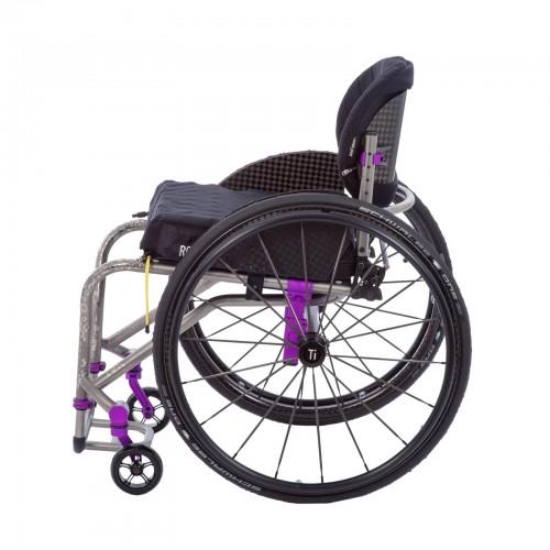 Side view of TiLite TRA Rigid Titanium Wheelchair