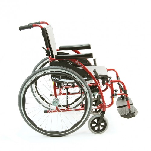Side view of Ultra Light Folding Wheelchair Rental