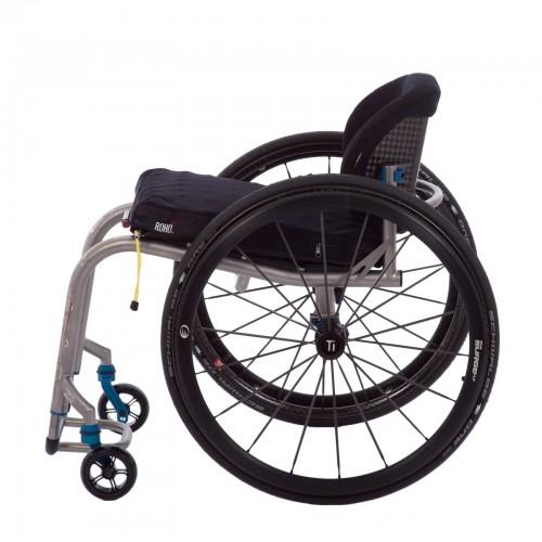 Side view of TiLite ZR Titanium Rigid Wheelchair