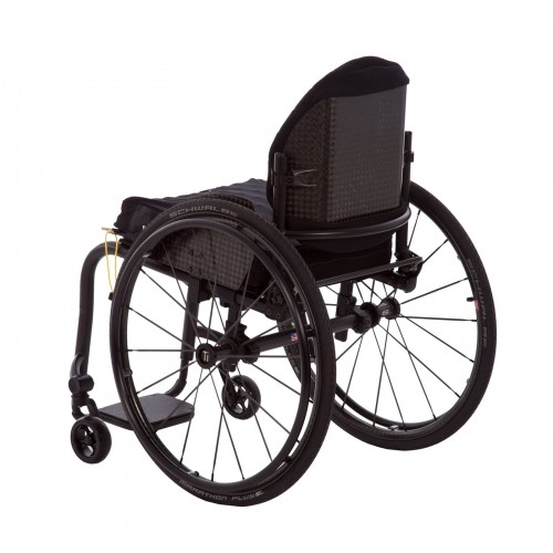 Back view of TiLite ZRA Series 2 Rigid Titanium Wheelchair