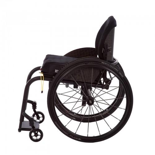Side view of TiLite ZRA Series 2 Rigid Titanium Wheelchair