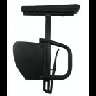 "Removable Ht. Adj. Desk Arm w/ Rigid Side Guard - 12"" to 15"" Standard"