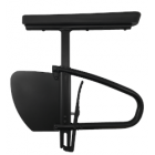 """Removable Height Adjustable Desk Arm with Rigid Side Guard and Transfer Loop - 12"""" to 15"""""""