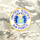 """Air Force 4"""" Logo Patch"""