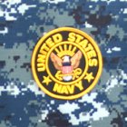"""Navy 4"""" Logo Patch"""