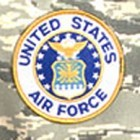 "4"" Logo Patch - Air Force"