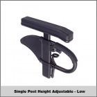 "Single Post Height Adj. - Low (7""-11"") w/ Desk Length - Classic"