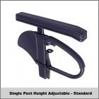 "Single Post Height Adj. - St (8.5""-13.5"") w/ Full Length - Contour"