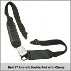 """Belt 2"""" Aircraft Buckle Pad w/ Clamp"""