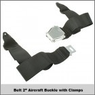 """Belt 2"""" Aircraft Buckle w/ Clamps"""